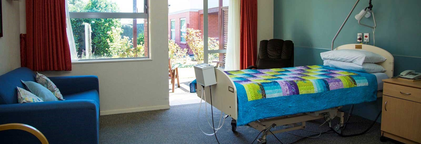 A room at Hospice Taranaki